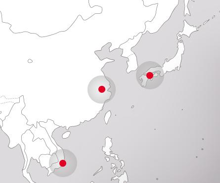 3拠点からなる生産体制